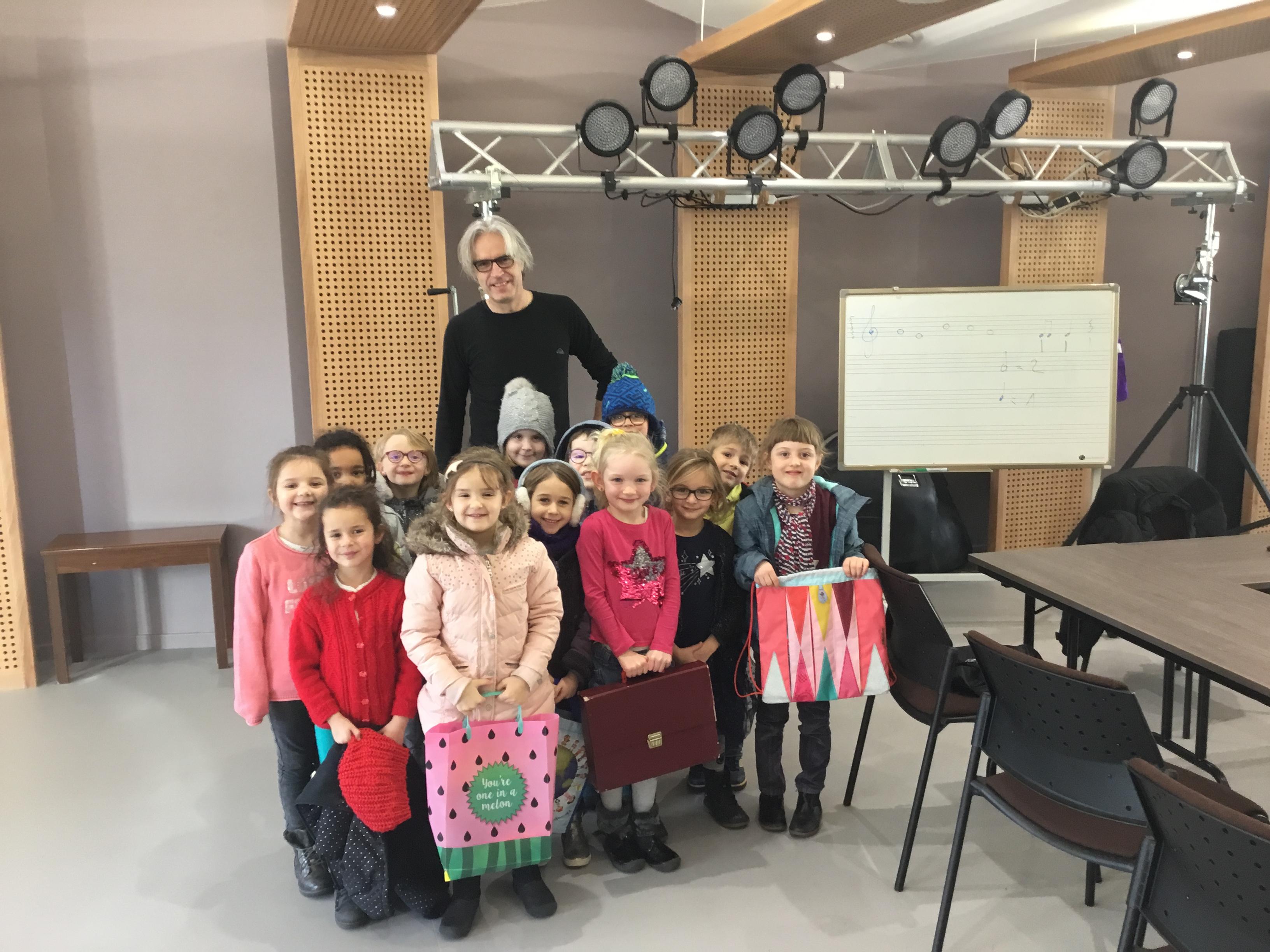 classe d'eveil musical de l'école de musique de la 2c2r