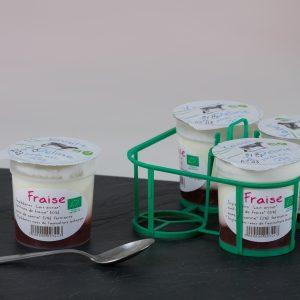 Yaourt à Déline BIO –  Confiture Framboise