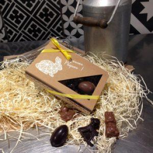 Friture de Pâques Bio – Chocolat Noir et Lait – 100g EN BOÎTE