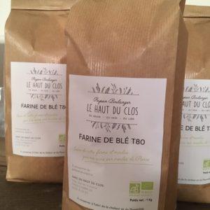 Farine de blé T80 BIO – 1kg