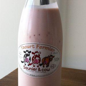 Yaourt a boire – Saunier & Cow – Fraise 50cl