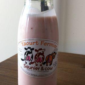 Yaourt a boire – Saunier & Cow – Fraise 25cl