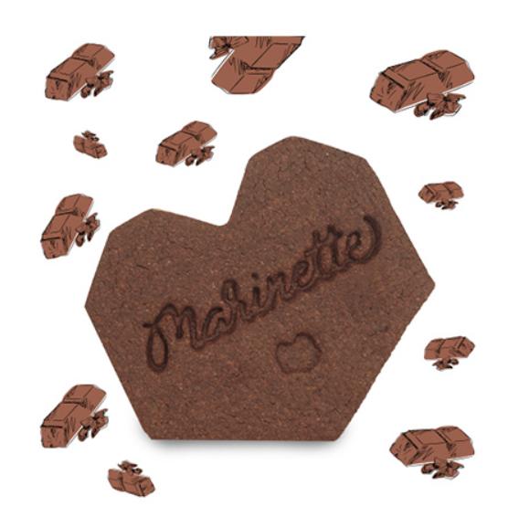 Sachet 10 biscuits intemporels «Chocolat noir» 150 G